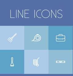 Set of 6 editable instrument icons includes vector