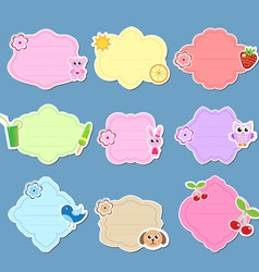 Set of cute labels stickers frames for text vector