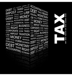 TAX vector image vector image