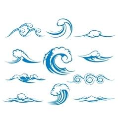 Waves of sea or ocean waves vector image vector image