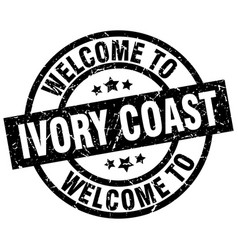 Welcome to ivory coast black stamp vector