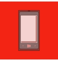Flat icon on background mobile phone vector