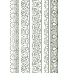 Ornamental Seamless Borders Set for Decor vector image