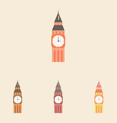 Big ben monument of london big ben set vector
