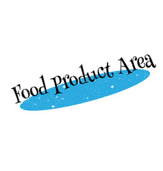 Food product area rubber stamp vector