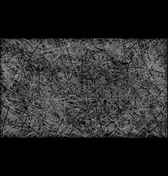 Black and white abstract scratched grunge vector
