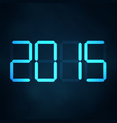 2015 new year abstract lcd numbers vector
