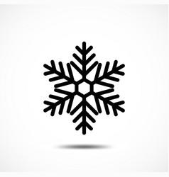 Snowflake icon vector