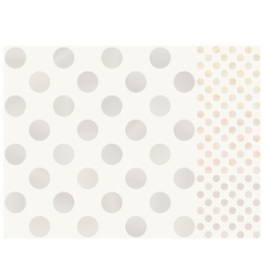 Seamless polka dots with silver gold bronze vector