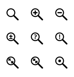 Magnifying glass icon set vector