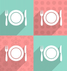 Menu icon on colorful backgrounds vector image