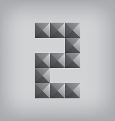 2 number two alphabet geometric icon and sign vector