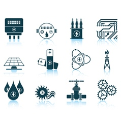 Set of energy icons vector