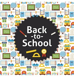 Flat Back to School Background vector image