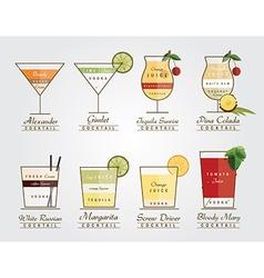 Set of cocktails vector