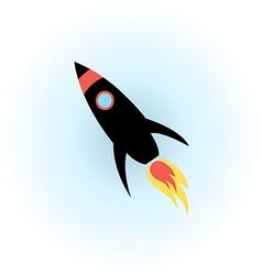 Space rocket flight icon vector