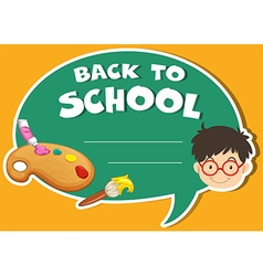 Paper design with back to school theme vector