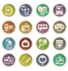 Love messages icons vector
