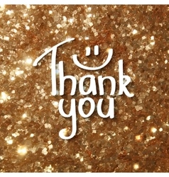 thank you czrd vector image