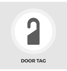 Door tag line icon vector