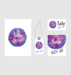 art of watercolor stains of paint on watercolor vector image vector image