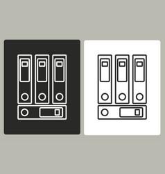binder - icon vector image vector image