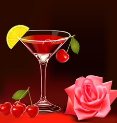 Cherry Cocktail vector image vector image