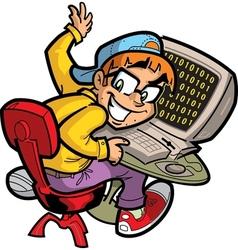 Computer nerd vector
