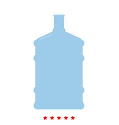 Dispenser large bottles icon different color vector