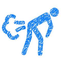Fart grunge icon vector