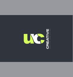 green letter uc u c combination logo icon company vector image vector image