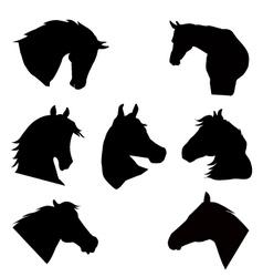 Horse head silhouette vector