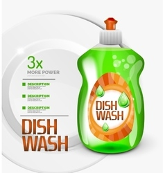 kitchen dish wash ad product package vector image vector image