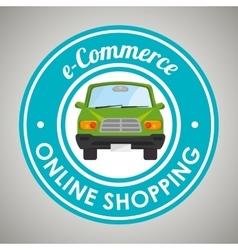 Online car sale design vector