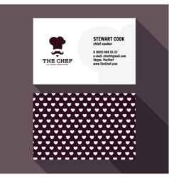 Qualitative elegant business card chef logo vector