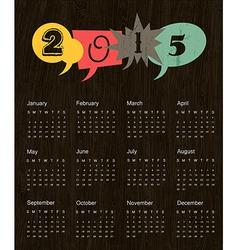 retro calendar 2015 vector image