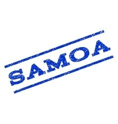 Samoa watermark stamp vector