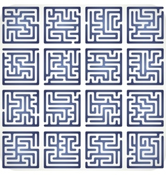 Set of Maze vector image