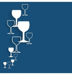 Silhouette alcohol glass vector