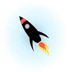 Space rocket flight icon vector