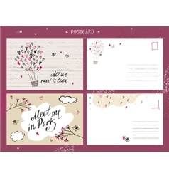 Valentine day love postcardall we need is love vector