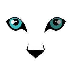 Wild jaguar eyes vector
