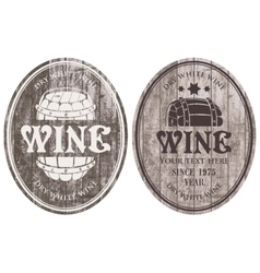 wine labels with the barrel vector image vector image