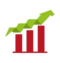 Arrow growth up icon vector