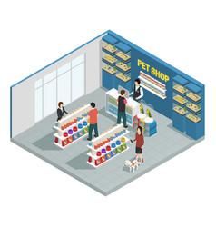 pet shop composition vector image