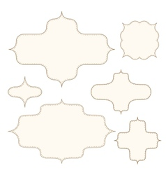 Stitched frames set vector image