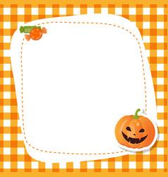 Greeting card with cute pumpkin greeting card vector