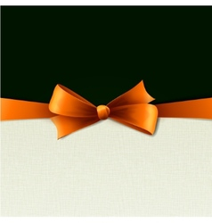 Orange gift bows with ribbons vector