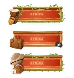 African Banner Set vector image