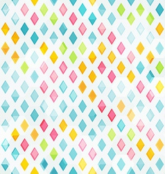 Colored diamond seamless pattern vector